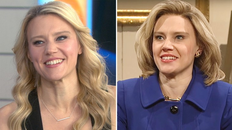 Kate McKinnon on TODAY and as Hillary Clinton on SNL.
