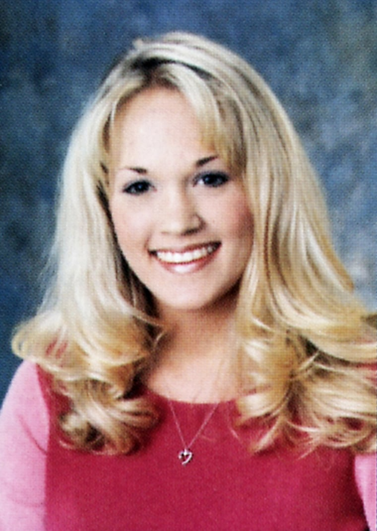 Carrie Underwood Senior Year 2001