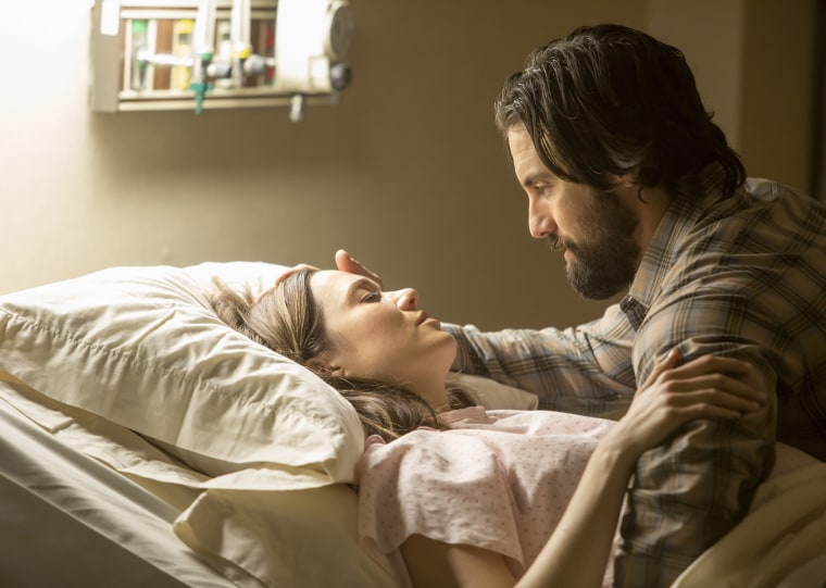 """This is Us,""  Mandy Moore as Rebecca, Milo Ventimiglia as Jack."