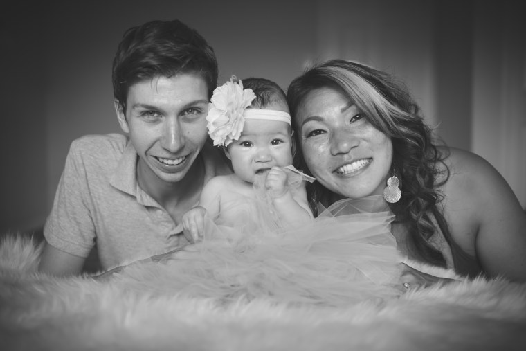 Brad, his wife Lin, and their daughter Lillian.