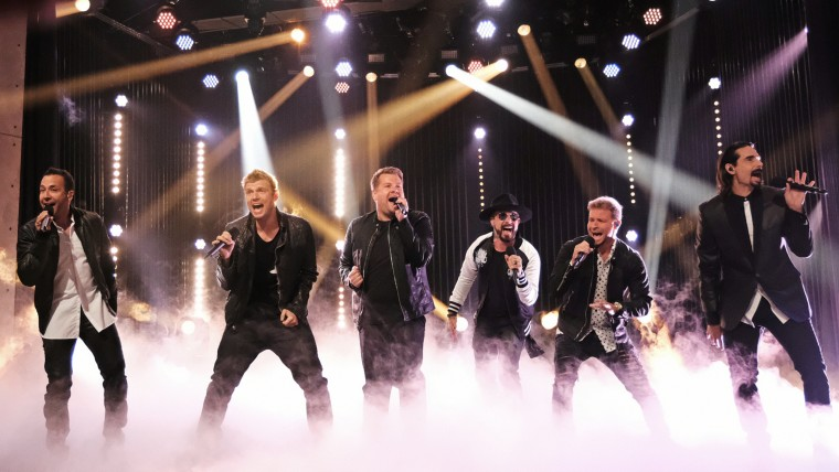 """Backstreet Boys perform WITH """"The Late Late Show with James Corden"""""""