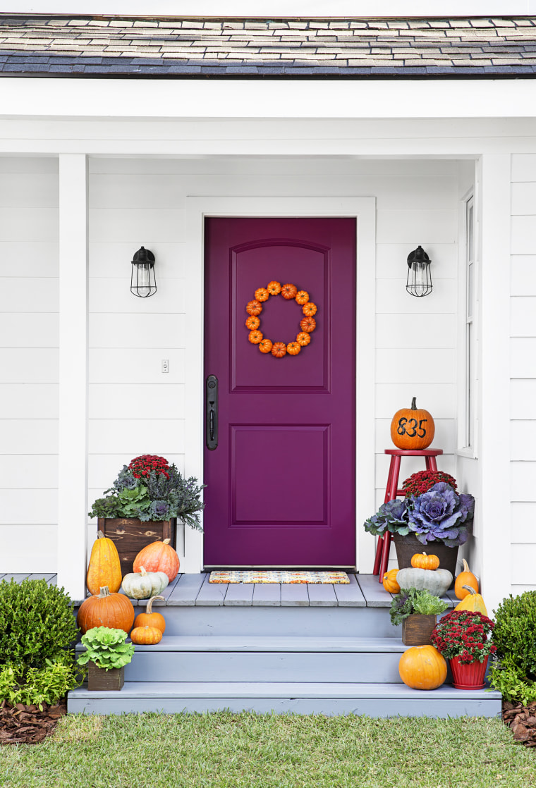 Front Doors Porch Ideas For Fall