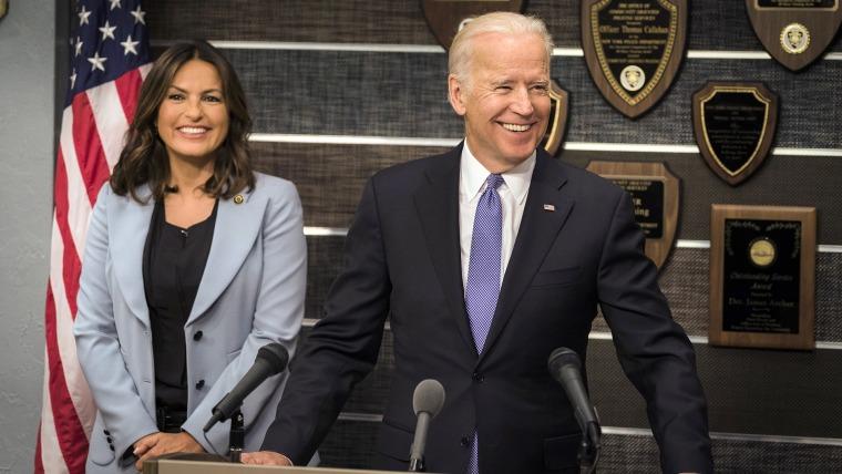 Mariska Hargitay as Lieutenant Olivia Benson, Vice President Joe Biden.