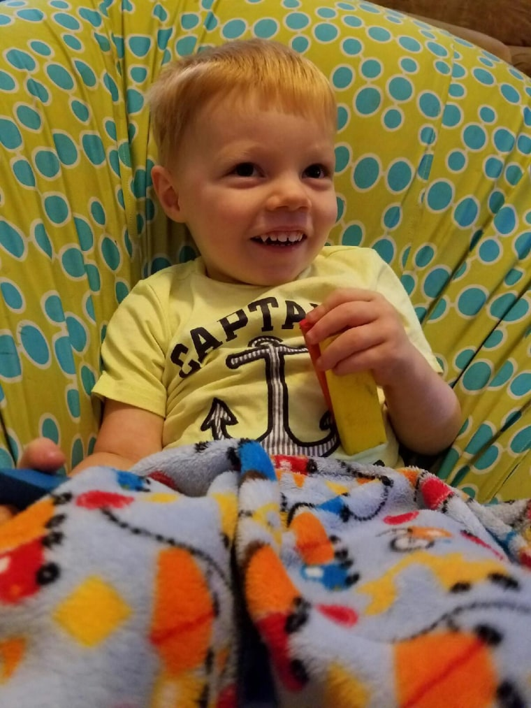 """With autism and sensory sensitivity, he becomes very fixated on objects,"" said Eldridge of her son. ""This blanket has become a soothing tool for him."""