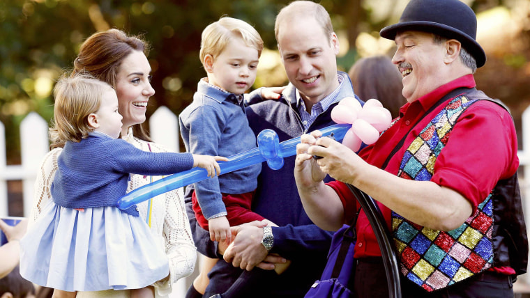 Prince William, Catherine, Duchess of Cambridge, Prince George and Princess Charlotte