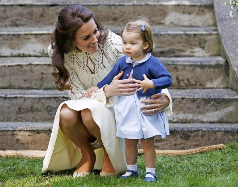 Kate, Duchess of Cambridge, and Princess Charlotte