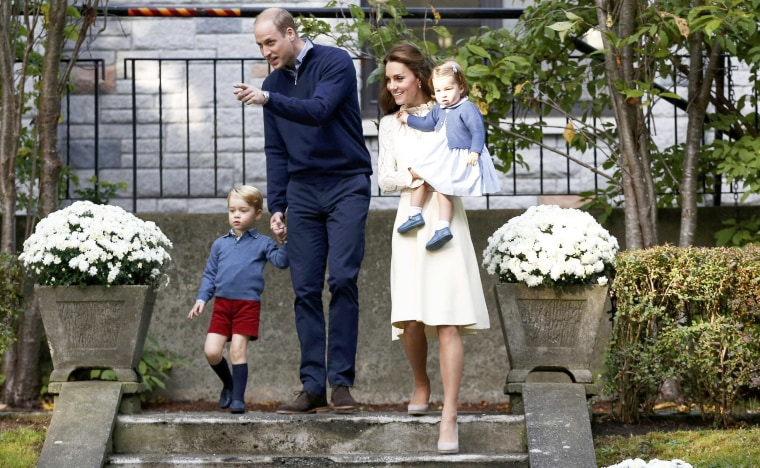 Prince William, Catherine, Duchess of Cambridge, Prince George and Princess Charlotte