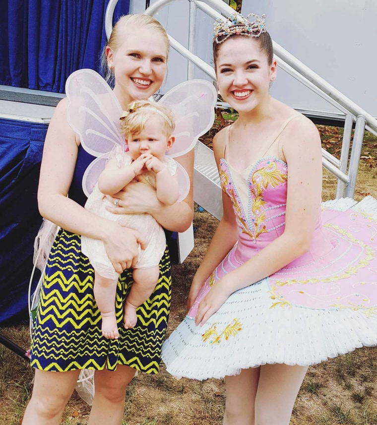 This girl could not have been happier to meet a real-life ballerina