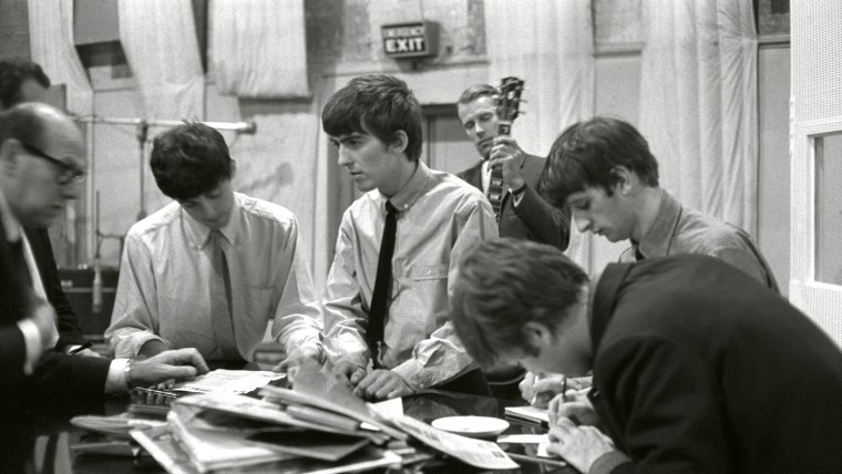 The Beatles at Abbey Road recording studios, London - 1960s