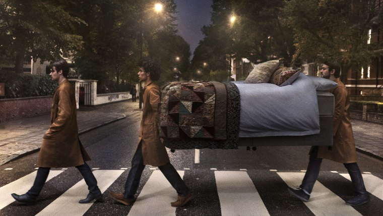 Bed carried on Abbey Road