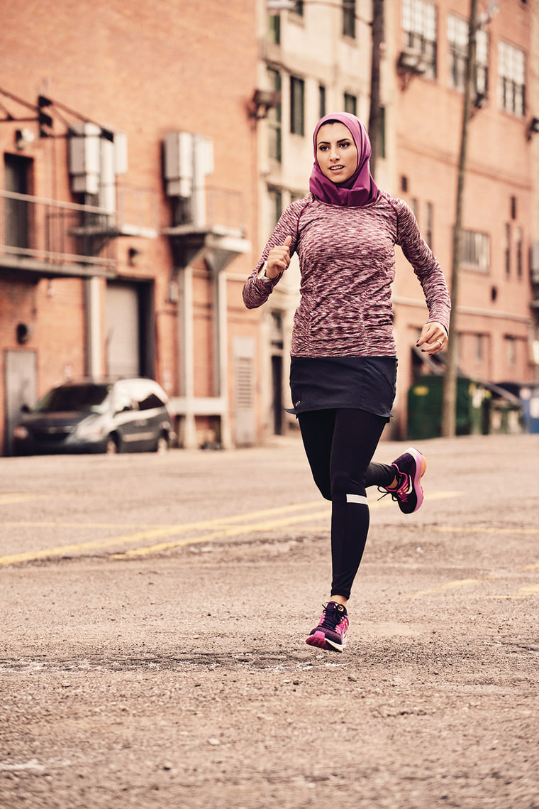 A photo of Rahaf Khatib from the October 2016 issue of Women's Running