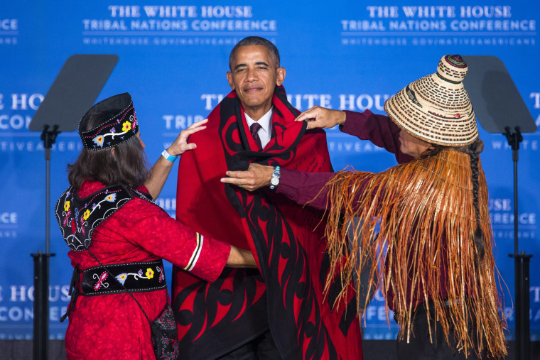 Image: Obama Speaks at Tribal Conference in DC