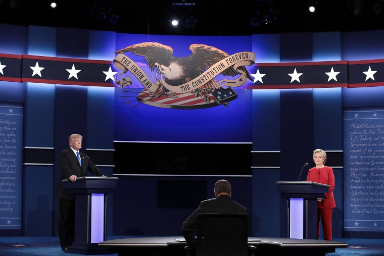 Image: Hillary Clinton And Donald Trump Face Off In First Presidential Debate At Hofstra University