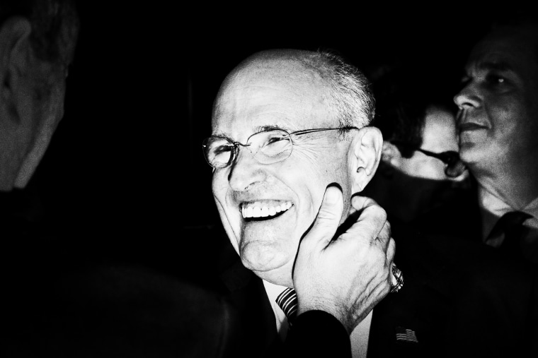 Rudy Giuliani is seen ahead of the first presidential debate at Hofstra.