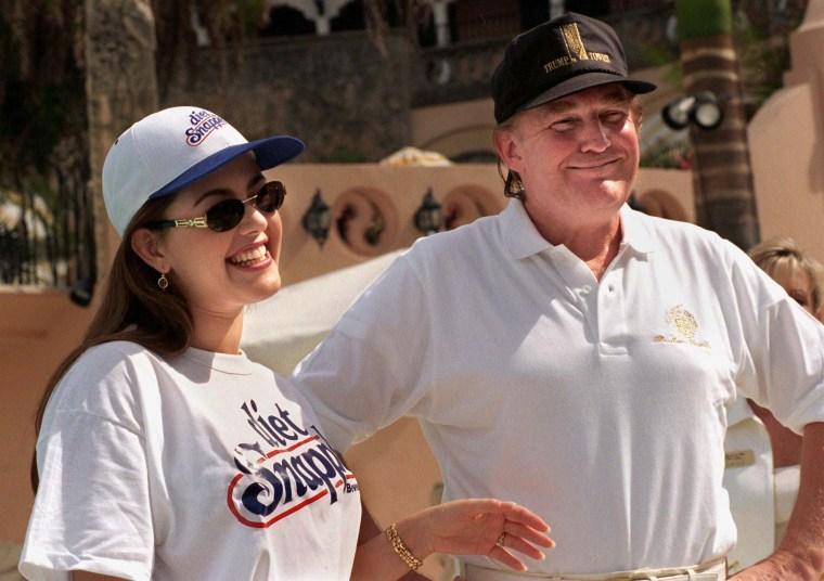 Image: Alicia Machado appears with Donald Trump in Feb. 1997