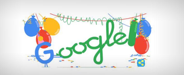 Google celebrates its birthday.