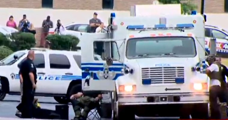 Charlotte-Mecklenburg Police Headquarters was evacuated Sept. 27, after a suspicious package was discovered inside the building.