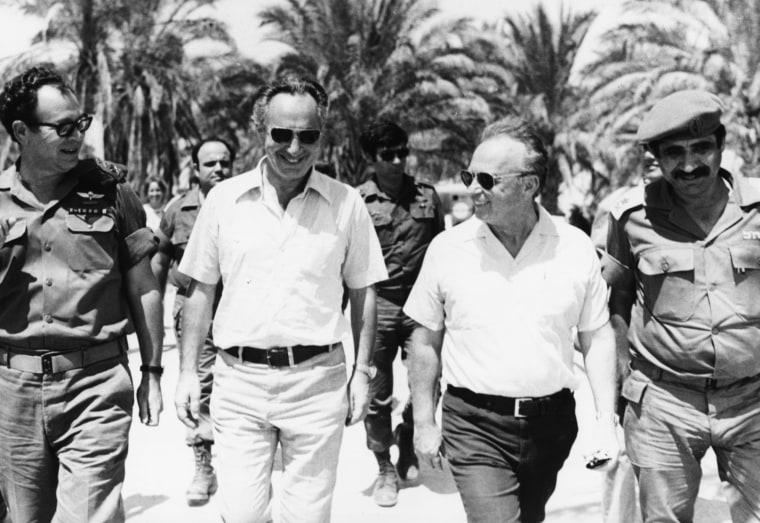 Image: Yitzhak Rabin, Shimon Peres, Mordechai Gur And Yekutiel Adam