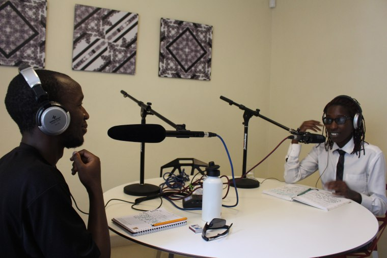 "LGBTQ activists Anthony Oluouch (left) and Immah Reid (right) co-host the weekly podcast ""Queer Questions"" from Nairobi, Kenya."