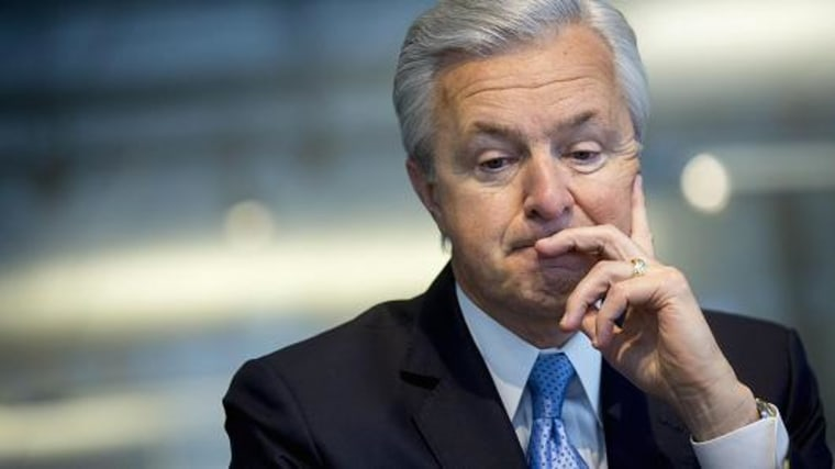 John Stumpf, chairman, president and chief executive officer of Wells Fargo. Andrew Harrer | Bloomberg | Getty Images