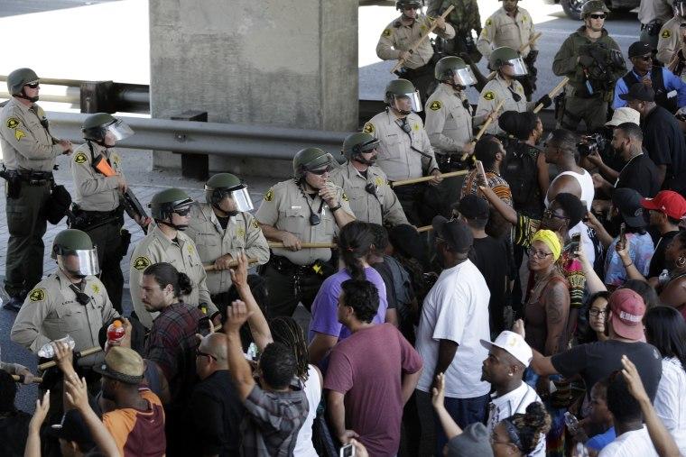 Image: El Cajon demonstration