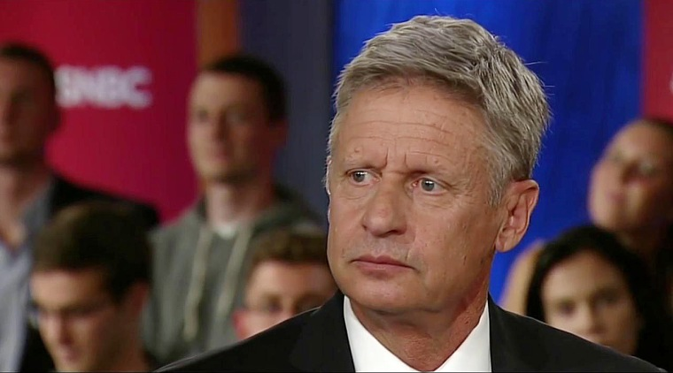 Libertarian presidential candidate Gary Johnson appears on Hardball.