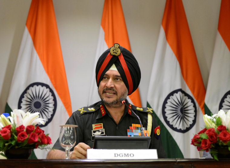 Image: Indian army's director general of military operations Lt. Gen. Ranbir Singh