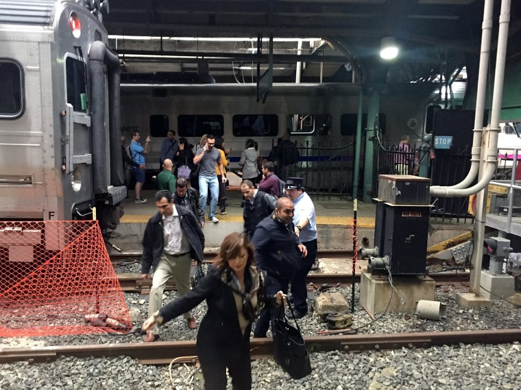 Image: New Jersey Transit Commuter Train Crashes At Hoboken Terminal