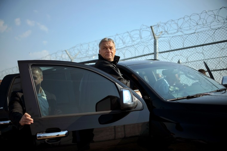 Image: Viktor Orban at the Bulgaria-Turkey border