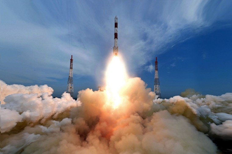 Image: Indian Space Research Organization puts in orbit its own weather satellite
