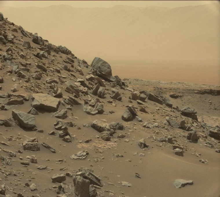 Image: Mars Rover views spectacular layered rock formations