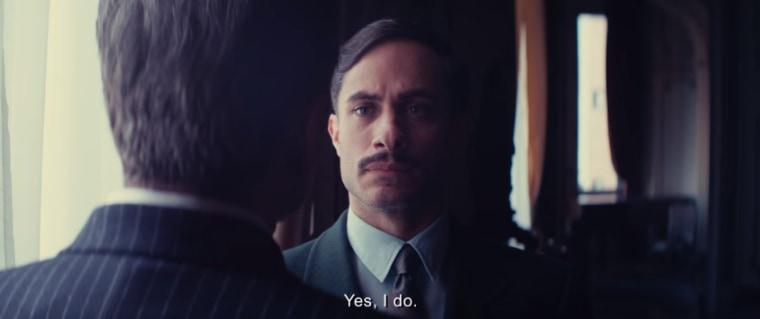 "Gael Garcia Bernal in ""Neruda."""