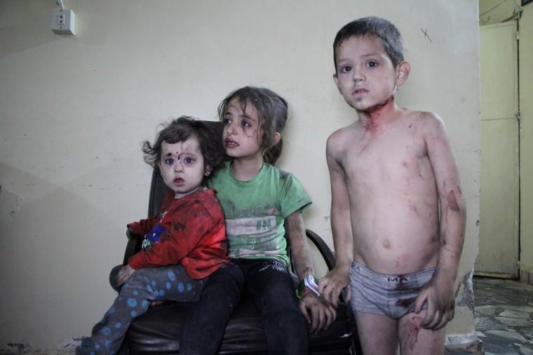 Image: TOPSHOT-SYRIA-CONFLICT-IDLIB