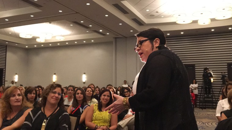 Sonia Sotomayor speaking to female entrepreneurs at the Animus conference in Puerto Rico.