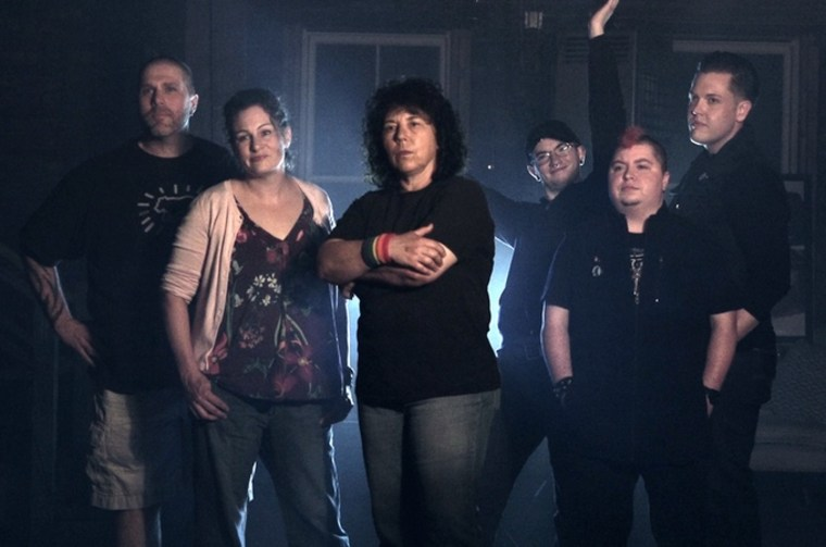 Members of Ohio's Stonewall Columbus Queer Ghosthunters group: (L-R) Scott Priddy, Katy Detrow, Lori Gum, Liam Gallagher, Kai Stone and Shane McClelland