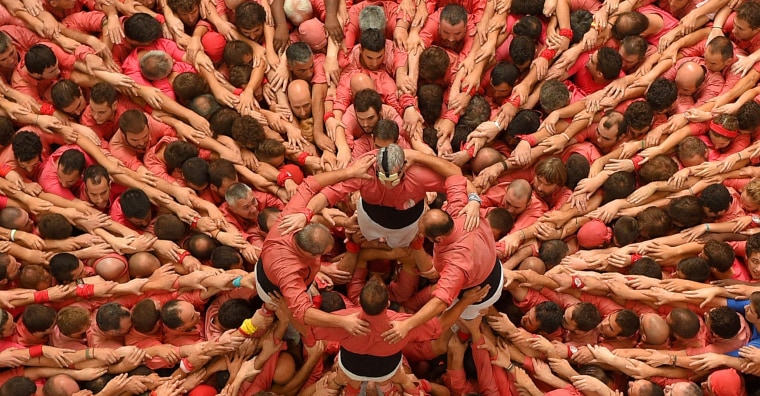 Image: SPAIN-CATALONIA-HUMAN-TOWERS-CASTELLERS