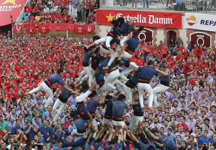 Image: Castells' contest in Tarraco