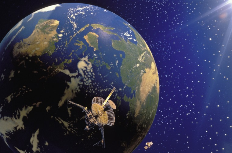 Image: Galileo & Magellan Satellites And Planet Earth