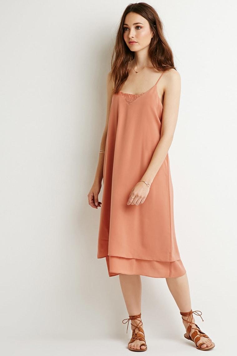 Forever21 layered midi slip dress