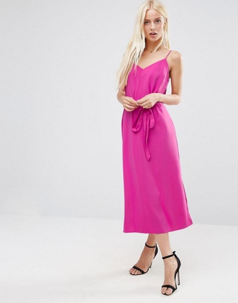ASOS belted midi dress