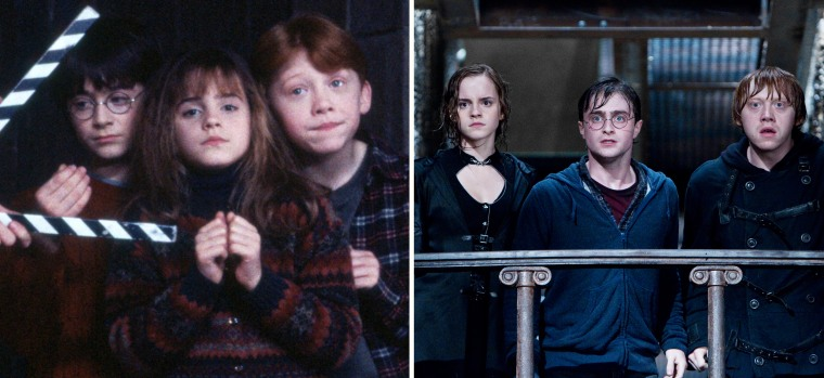 Harry Potter first and last movie stills