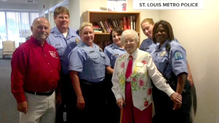 102-year-old lady getting arrested