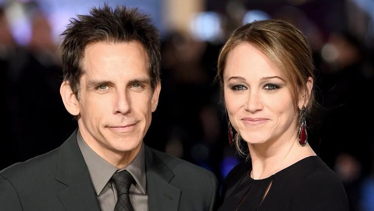 Ben Stiller and wife Christine Taylor