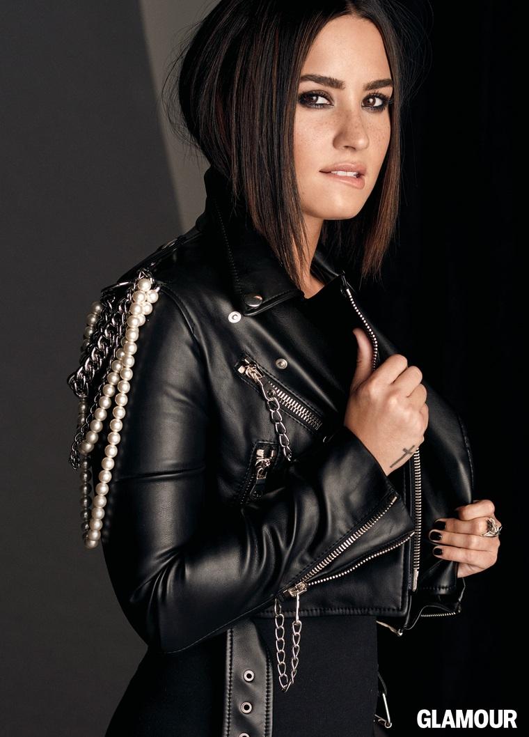 Demi Lovato poses for Glamour's November 2016 issue
