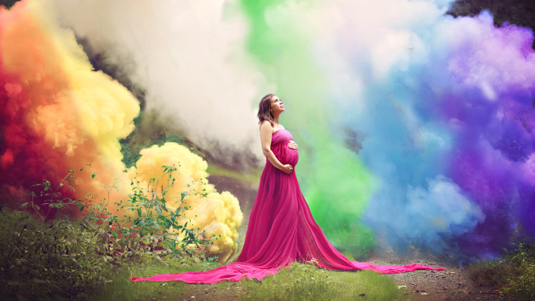 """rainbow baby"" pregnancy - that is, a pregnancy after loss"