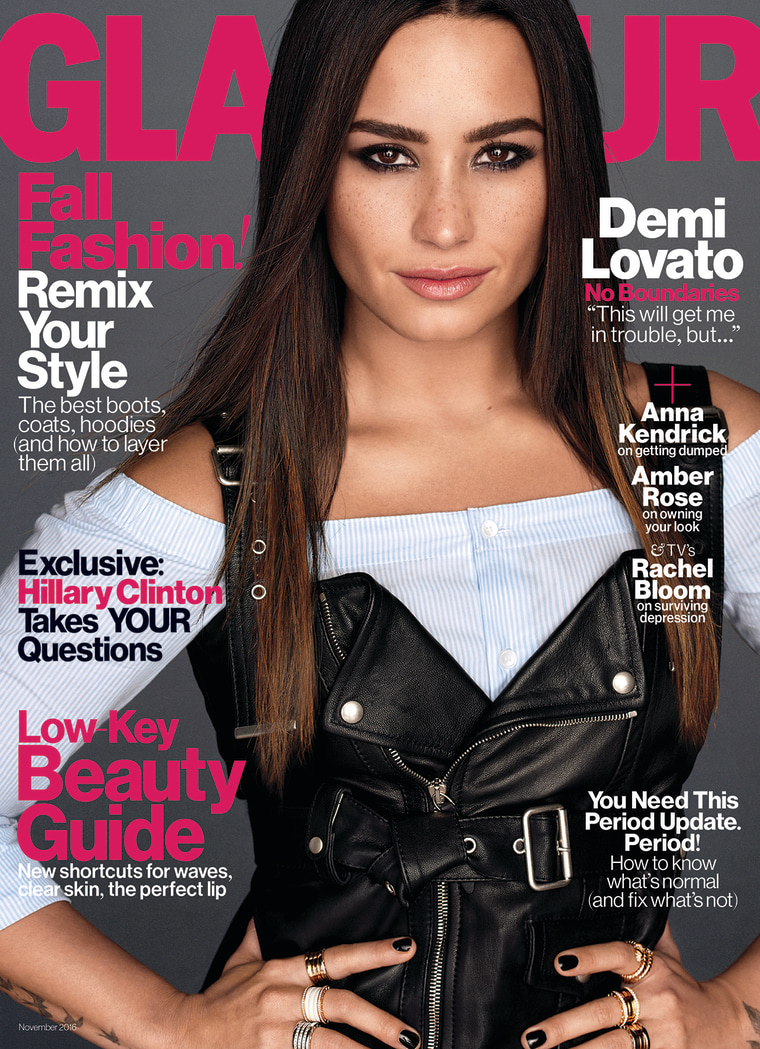 Demi Lovato Glamour November 2016 Cover
