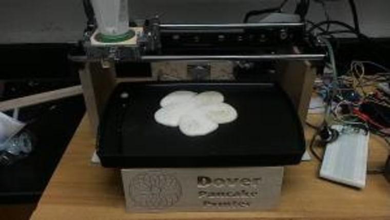 The pancake printer in action!