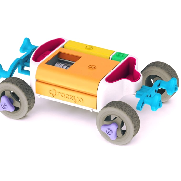 Start your engines! This colorful RaceYa car caught our attention at Maker Faire.
