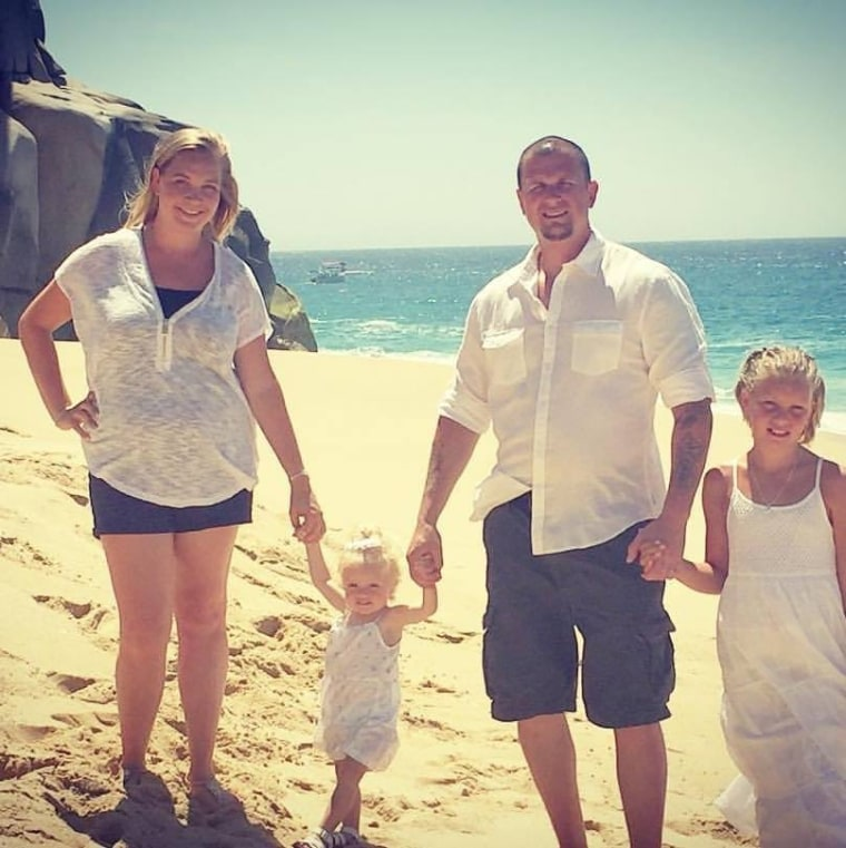 Danielle and Jason Solito with daughters Ava, 10, and Emma, 15 months.