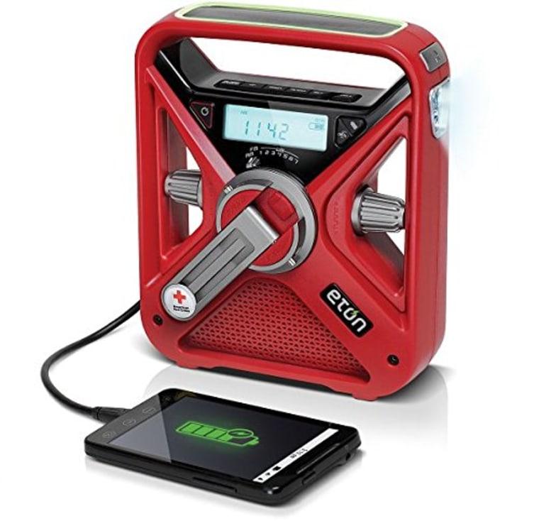 FRX3 Hand Crank NOAA AM/FM Weather Alert Radio with Smartphone Charger